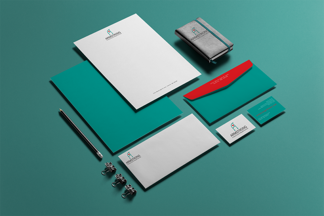 Armstrong Home Care and Respite Services redesigned branded business documents by Tamara, Hanks Design