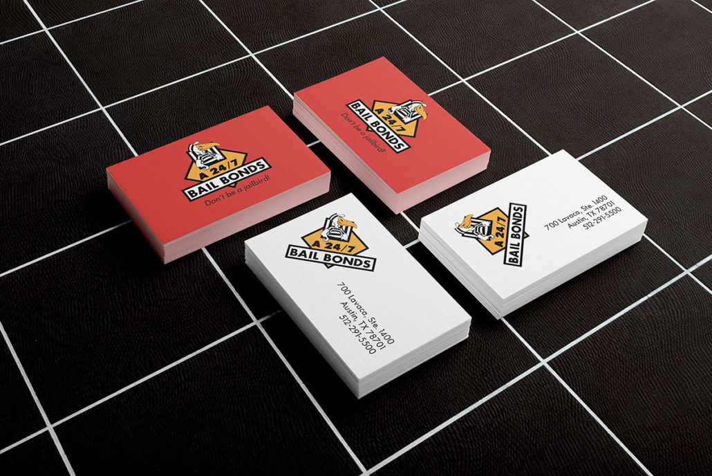 A 24/7 Bail Bonds business-cards